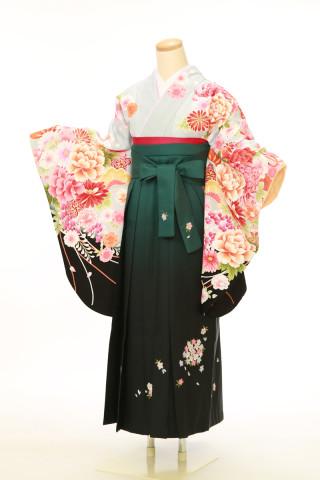No.4057 二尺袖袴用着物 袴セット