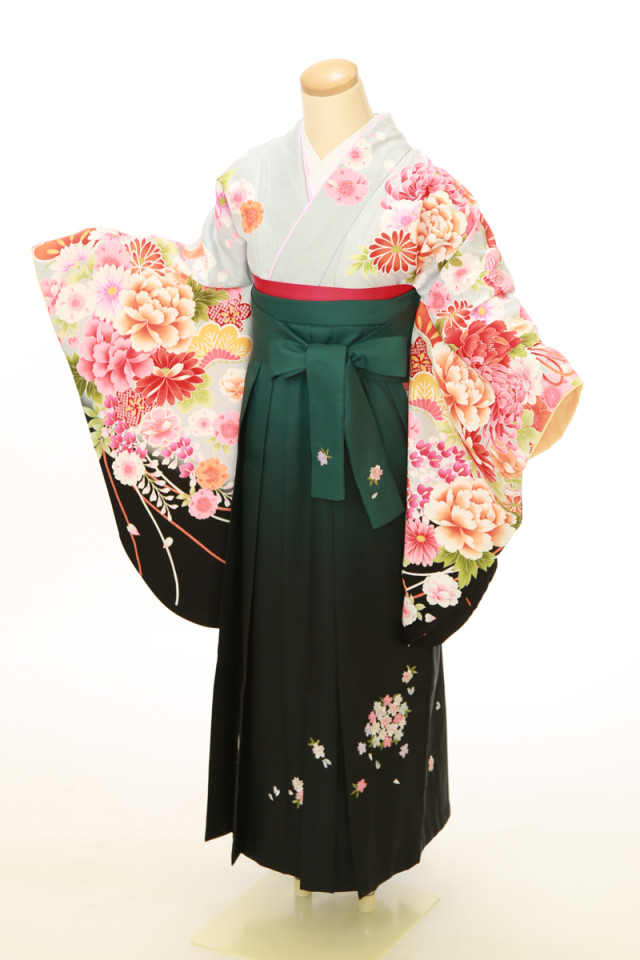 二尺袖袴用着物 袴セットの衣装画像2
