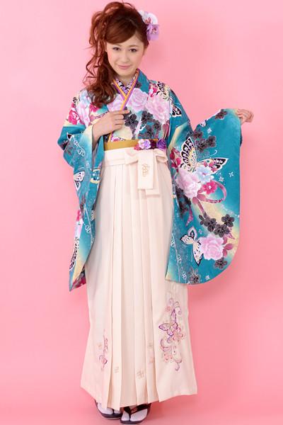 モデルまいち着用ブランド/E-105着物&E-205袴セットの衣装画像1