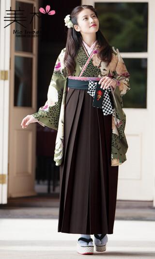 今田美桜着用の2尺袖きもの 茶/白