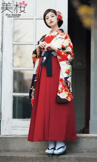 今田美桜着用の二尺袖きもの 白/赤