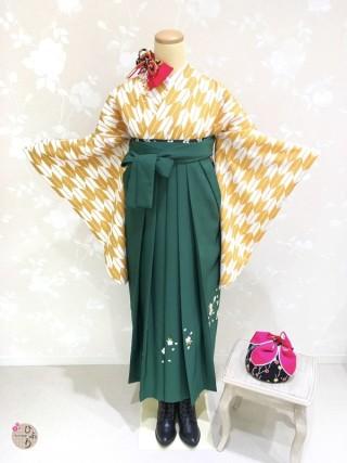 No.4639 Y-0002/桜刺繡グリーン