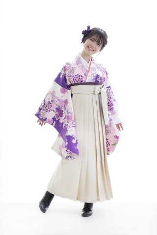 No.3932 ふんわり紫の卒業袴コーデ