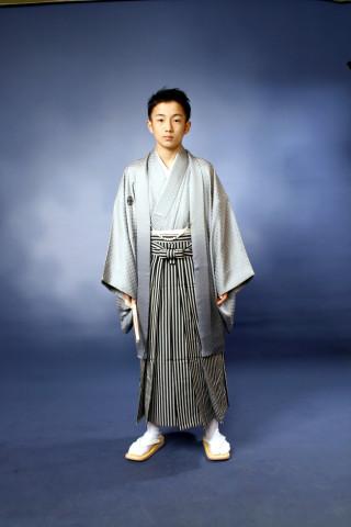 No.4011 小学校卒業式 紋付き袴セット