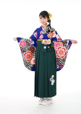 No.6095 菊桜に麻の葉 紺