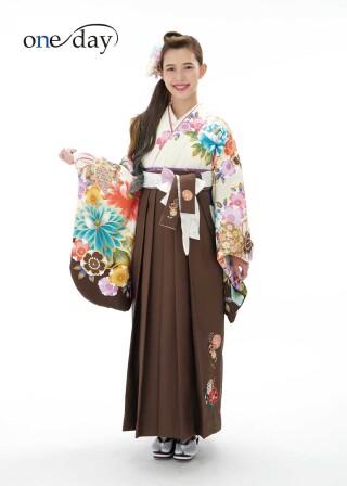 No.6134 【新作】One Day 菊に牡丹 ホワイト