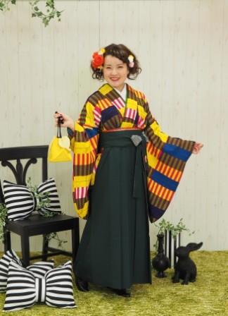 無地刺繍袴の衣装画像1