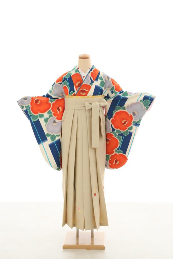 卒業袴フルセットレンタル 二尺袖×モダン柄の衣装画像3