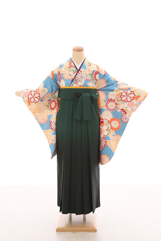 卒業袴フルセットレンタル 二尺袖×モダン柄の衣装画像1