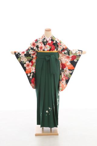 No.5068 卒業袴フルセットレンタル 二尺袖×モダン柄