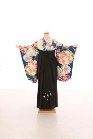 No.5069 卒業袴フルセットレンタル 二尺袖×モダン柄