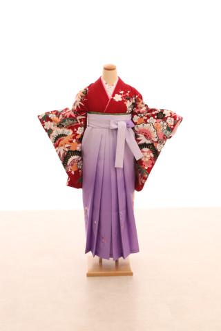 No.5070 卒業袴フルセットレンタル 二尺袖×モダン柄