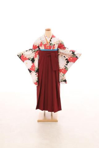 No.5071 卒業袴フルセットレンタル 二尺袖×モダン柄