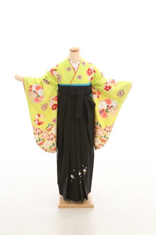 No.5072 卒業袴フルセットレンタル 二尺袖×モダン柄