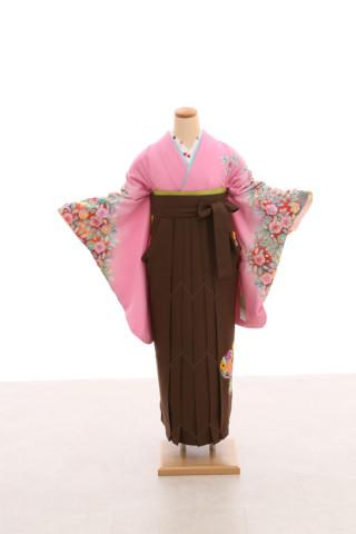 No.5076 卒業袴フルセットレンタル 二尺袖×古典柄