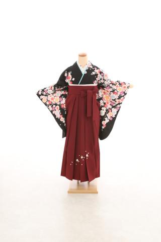 No.5077 卒業袴フルセットレンタル 二尺袖×古典柄