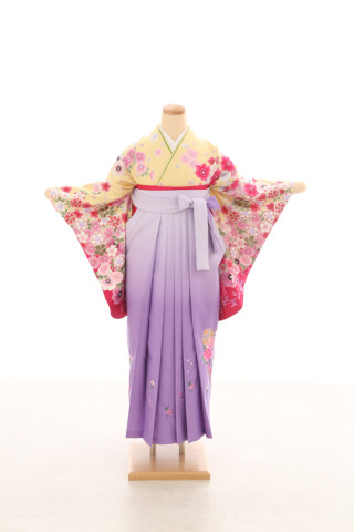 No.5078 卒業袴フルセットレンタル 二尺袖×古典柄