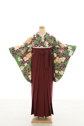 No.5080 卒業袴フルセットレンタル 二尺袖×古典柄