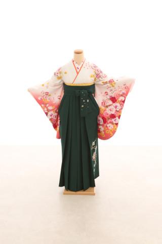 No.5081 卒業袴フルセットレンタル 二尺袖×洋風柄