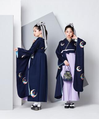 No.5014 【卒業袴】キリッとクール☆五彩/ミッドナイトブルー J-ROSSO