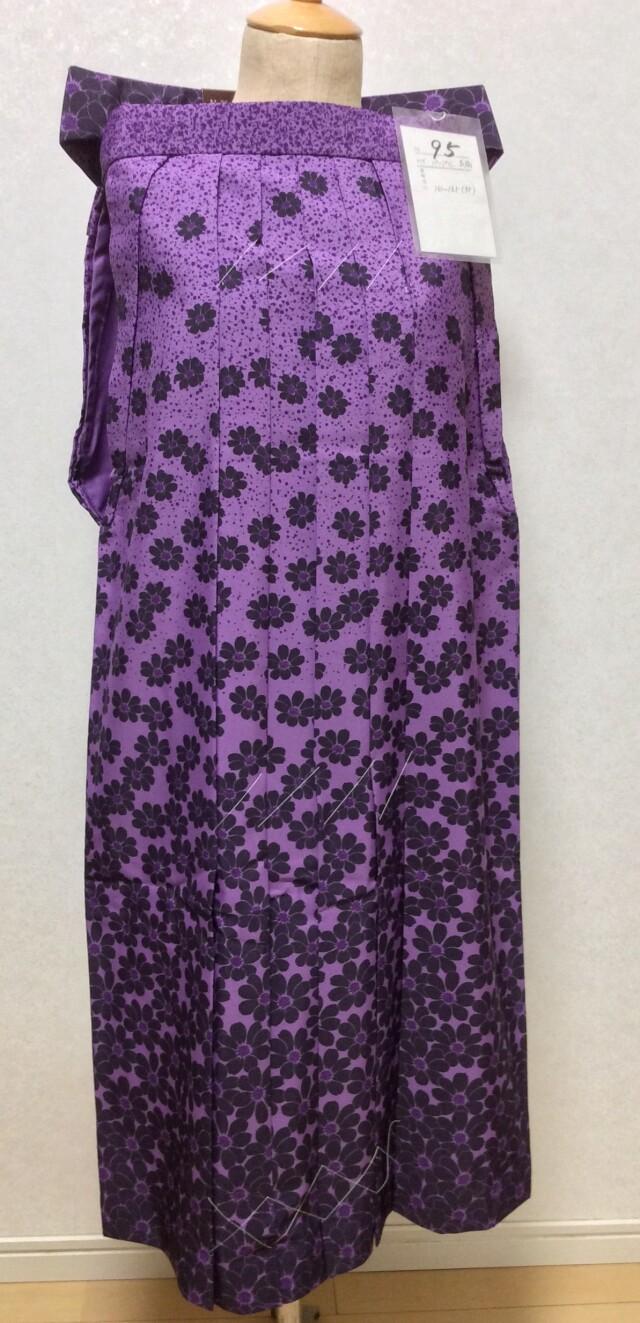161cm~165cm パープル花柄袴の衣装画像1
