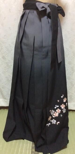 No.5568 167cm〜170cm ベージュ&黒 刺繍袴