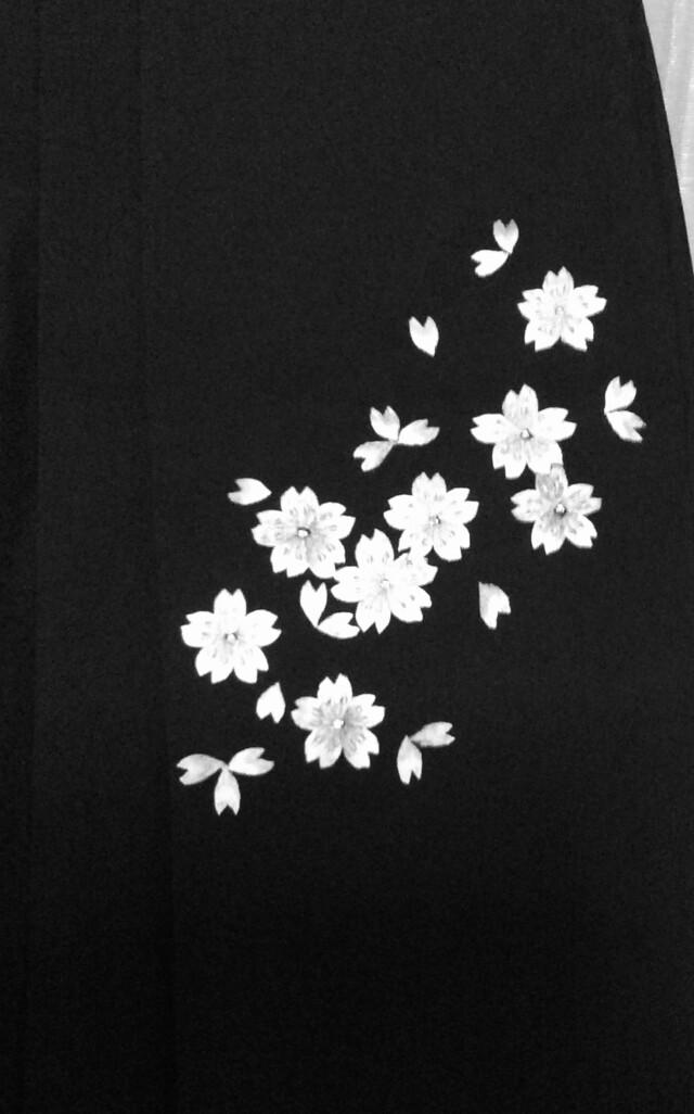 167cm〜170cm ベージュ&黒 刺繍袴の衣装画像3