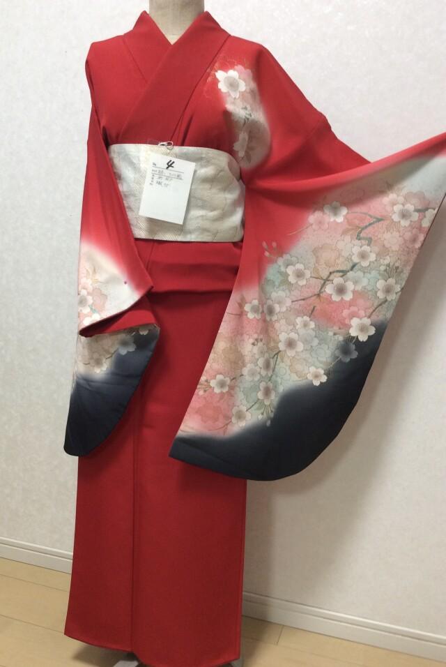 朱赤 桜柄の衣装画像1