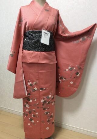 No.5698 ピンク色 桜柄着物