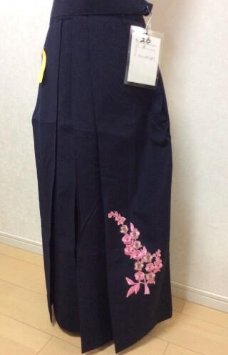 No.5749 黒地 袴 刺繍付き