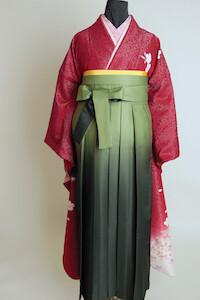 No.5678 グリーングラデの袴コーデ