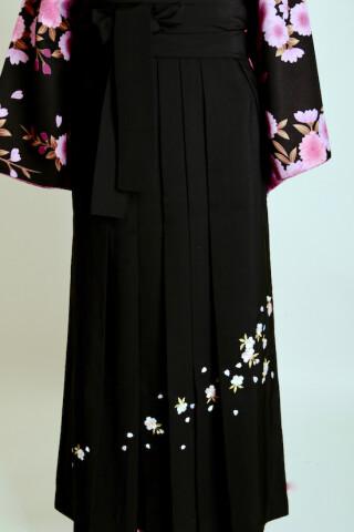 No.5684 黒&桜の刺繍