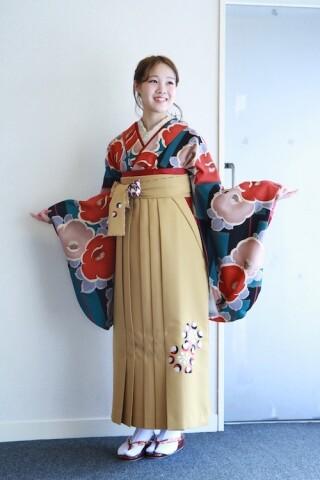 No.5754 earthの二尺袖Kimono