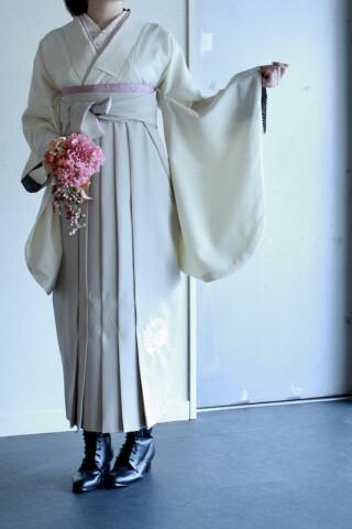 No.5768 アイボリー無地Kimono