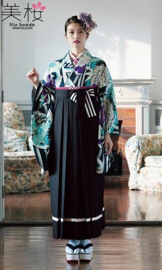 No.5982 今田美桜着用の二尺袖きもの ブルー